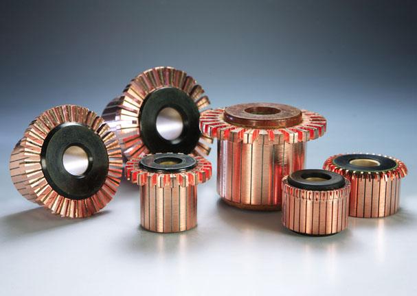 铜套槽型换向器
